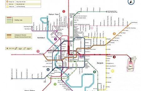 Thailande: A quoi ressemblera le réseau BTS et MRT à Bangkok en 2020 ?