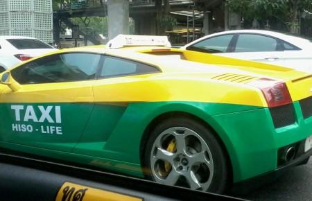 Un taxi Lamborghini fait le buzz en Thaïlande