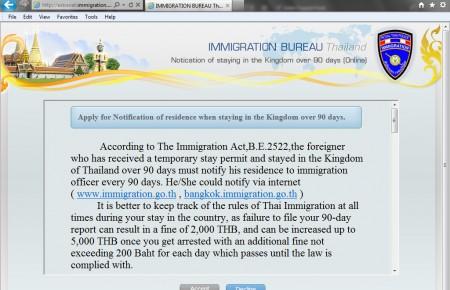 VISA Thailande, la notification des 90 jours disponible sur Internet !