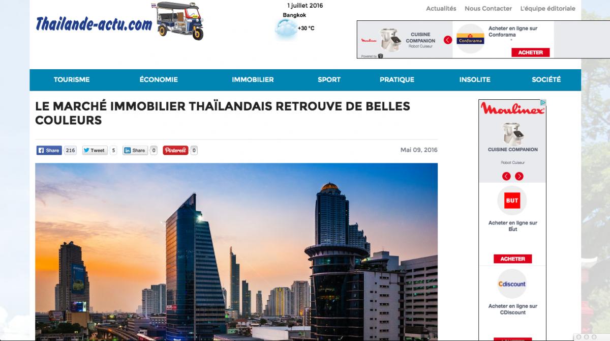 Devenir annonceur sur Thailande Actualités